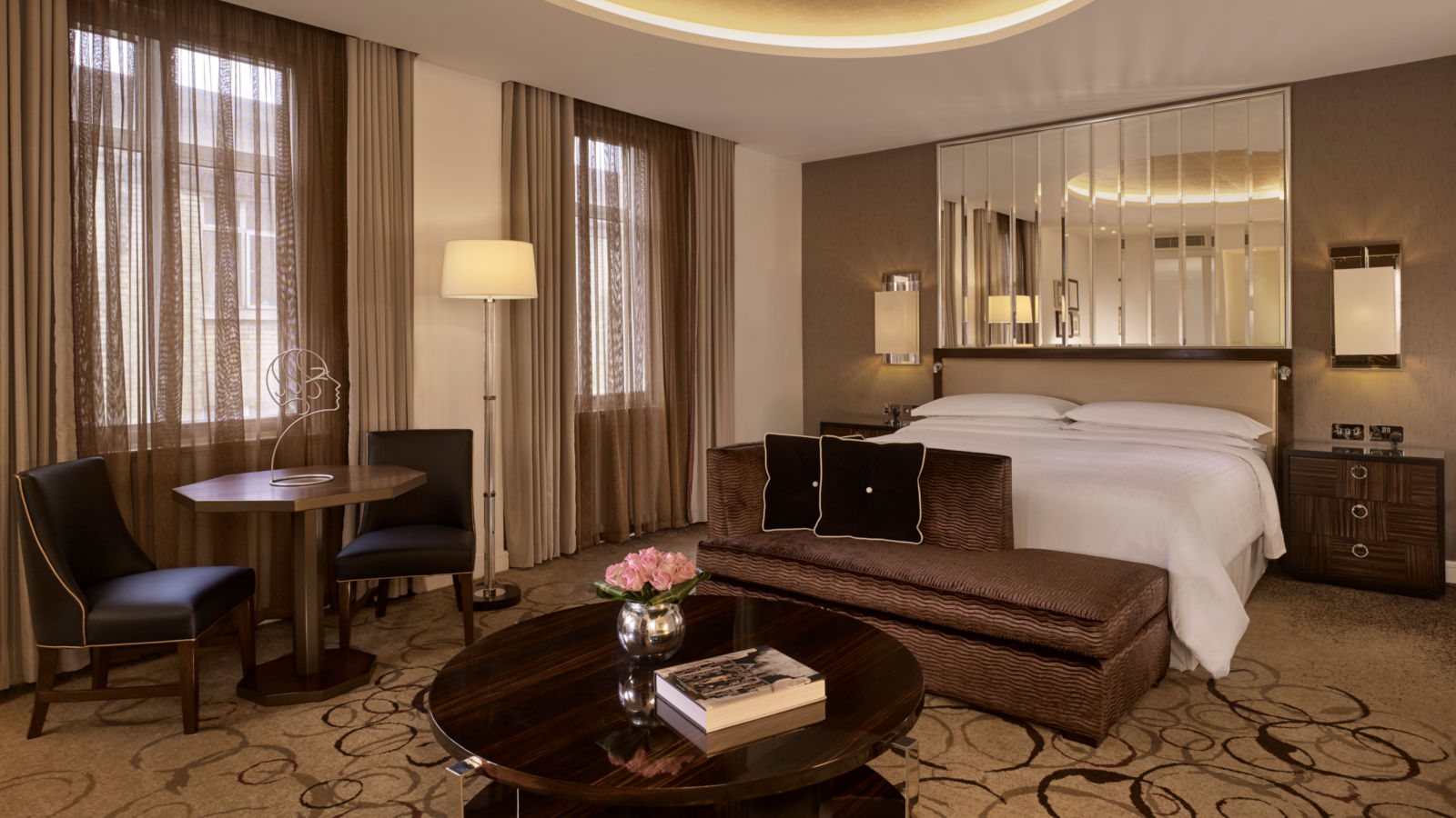 Classically beautiful, the Art Deco Suite at London's Sheraton Grand hotel